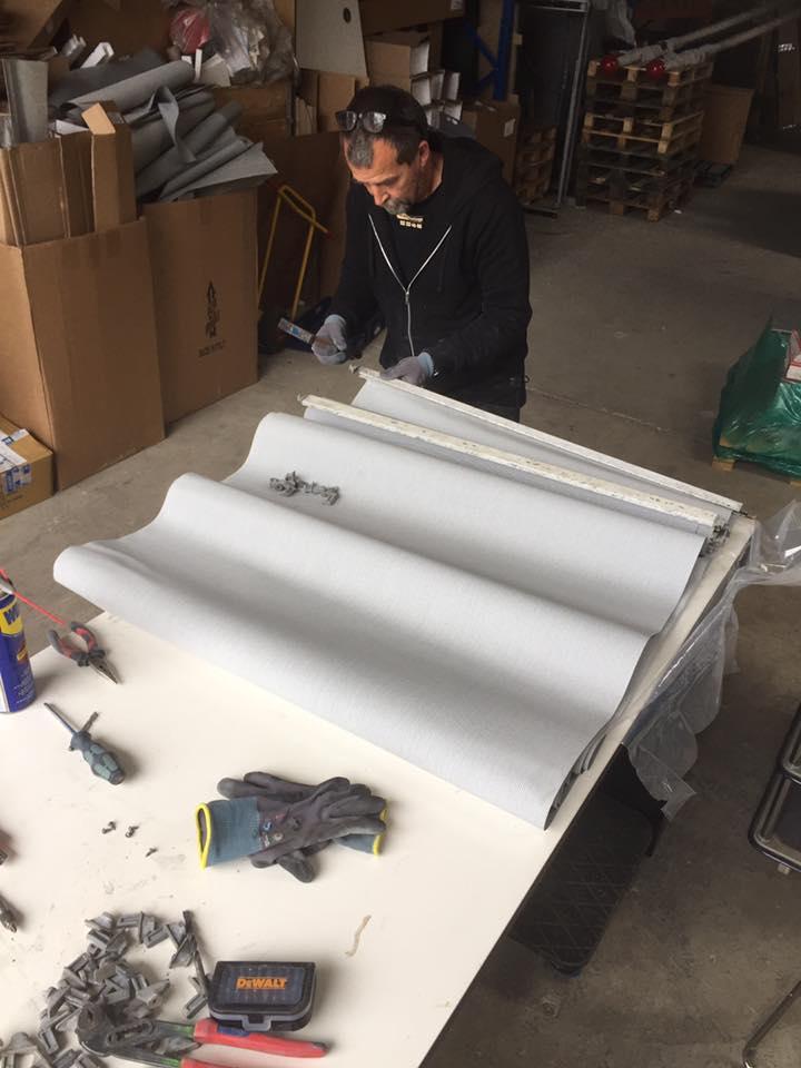 Servicering af 160 screen - Nye duge, smørelse, udskiftning af snoretræk